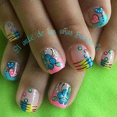 Lindas uñas! Cute Simple Nails, Cute Nail Art, Acrylic Nail Art, Love Nails, Some Pictures, Nail Tips, Hair And Nails, Makeup Tips, Nail Designs