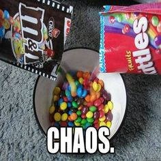 Some people just want to watch the world burn. ~~The best ever is the orange Skittles with the M&Ms! Just For Laughs, Just For You, Watch The World Burn, The Meta Picture, Funny Pictures With Captions, Funny Pics, Funniest Pictures, Hilarious Photos, That's Hilarious