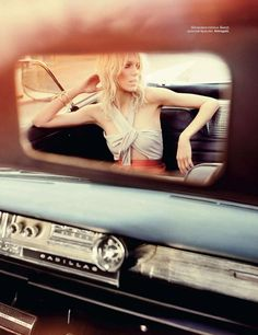 vintage car mirror // love this picture