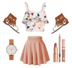 """""""Peachy """" by rachavez on Polyvore featuring New Look, Sam Edelman, Olivia Burton and Dolce Vita"""