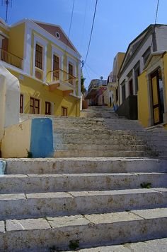 Symi, Greece Beautiful Islands, Beautiful Places, Social Distortion, Greek Beauty, Us Sailing, Take The Stairs, Greece Islands, Small Island, Adventure Is Out There