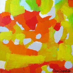 """Habanero"" by Claire Desjardins - 36""x36"" - Acrylics on canvas."