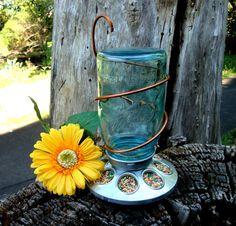 Antique Mason Jar Bird Feeder