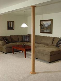 Pole-Wrap basement column covers are available in red oak, light maple, cherry, and MDF for painting. Installation is quick and easy using construction adhesive. The standard 8 ft. Wrap height and width are easily cut to fit. Cap & Base sets are available for 3 in., 3½ in. and 4 in. diameter columns. Pole-Wrap is simple to finish with only two coats of polyurethane. Can also be custom stained or painted to match your decor. An extra 4 ft. length Wrap is available for high ceiling…
