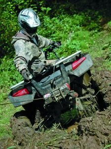 The great thing about ATVs is their versatility. Whether you ride across endless miles of barren desert, knee deep snow, shifting sand, or slimy mud, your ATV is uniquely suited for whatever type of terrain you come across.