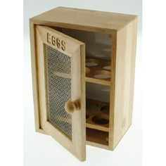 Stylish Wooden Egg Holder Cabinet Cupboard - Keep eggs safe and secure