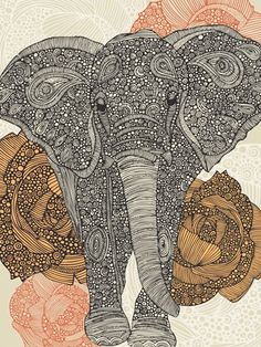 I'm in absolute love with this. Elephants are such strong but delicate creatures. I would love to have this as my next tattoo. I know I always say that - but this is beautiful and I find it to be very symbolic in ways I can't put into words!  How expensive this beauty would be though.. Geez