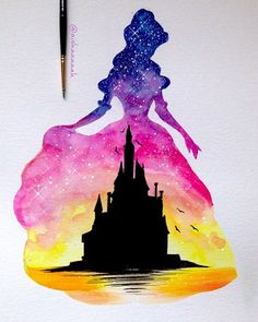 THESE SILHOUETTE PAINTINGS OF DISNEY MOMENTS ARE ABSOLUTELY MAGICAL