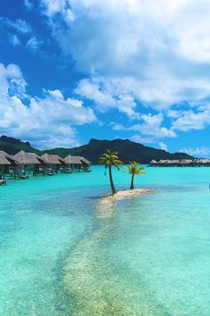 Bora Bora............One of my top places to vacation to.  I want to stay in one of the on the water huts. Yes!!!
