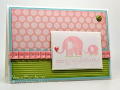 Gothdove Designs - Alison Barclay:  #babycard #colorcoach #stampinup  #softsky