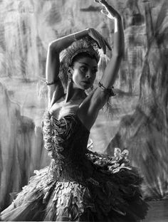 "Margot Fonteyn dancing the lead in Stravinsky's ballet ""The Firebird"". Photo by Baron, circa 1956"