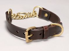 "CALIFORNIA COLLAR CO - leather dog collars, leashes & accessories - 1"" BUCKLE MARTINGALE"