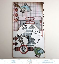 Planner Book, Planner Ideas, Travel Stamp, Elizabeth Craft Designs, Boy Cards, Bookbinding, Clear Stamps, Scrapbooking Layouts, Design Crafts