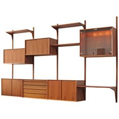 """""""Cado Royal"""" Poul Cadovius Teak Danish Wall Unit 