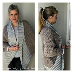 Oversized Shrug Crochet Pattern with Ribbed Shawl Collar - Sweater Crochet Pattern No.922 Digital Download PDF Beginner Pattern Cocoon Cardi by bubnutPatterns on Etsy https://www.etsy.com/listing/240216627/oversized-shrug-crochet-pattern-with