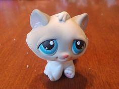 Littlest-Pet-Shop-53-Gray-White-Kitten-Cat-Blue-Eyes