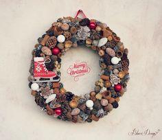 Karácsony - tradicionális adventi ajtódísz csengettyűvel, Otthon, lakberendezés, Dekoráció, Ünnepi dekoráció, Meska