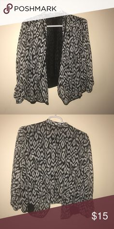 Torrid Blazer Worn once. Chiffon blazer. Can be used for a formal event. torrid Jackets & Coats Blazers