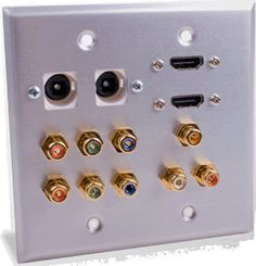 Custom outlet Plates and connectors