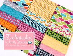 Technicolor by Emily Herrick for Michael Miller Fabrics  Bright colors and modern prints! Now available at Fat Quarter Shop