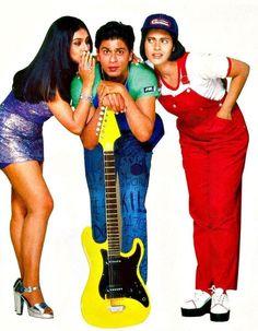Shah Rukh Khan, Kajol and Rani Mukherji - Kuch Kuch Hota Hai Bollywood Stars, Bollywood Poster, Bollywood Theme, Indian Bollywood Actress, Bollywood Costume, Bollywood Outfits, Bollywood Fashion, Shahrukh Khan And Kajol, Shah Rukh Khan Movies