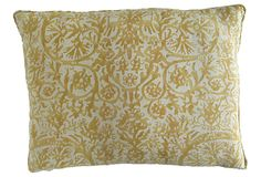 Gold - Mine is huge with a hand-knotted cotton thread fringe. Absolutely a beautiful gold...