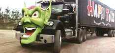 The White-Western Star 4800 Semi-trailer from Maximum Overdrive, The Green Goblin head is from Marvel Comics' Spiderman series. Western Star Trucks, Semi Trucks, Big Trucks, Maximum Overdrive, Badass Movie, Semi Trailer, Peterbilt Trucks, Toyota Trucks, Vintage Trucks