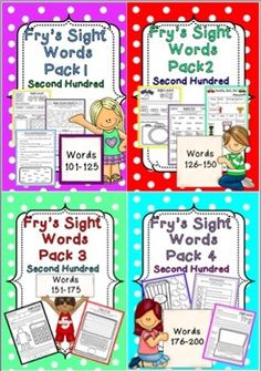 Fry's Sight Words Pack - 2nd Hundred Bundle