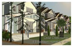 Cedar Creek Homes - Four Homes (Advent Day Twenty-Three) - Two Fingers Whiskey Pelo Sims, Back Porches, Cedar Creek, Contractors License, Great Inventions, Sims 2, Bath Remodel, Laundry Room, The Twenties