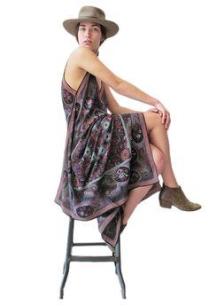 Woodland Fantasy Silk Scarf Dress   Spanish Moss