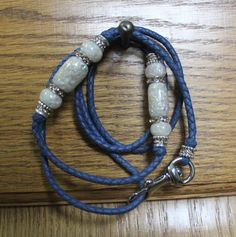 36 Jacaranda kangaroo leather show lead with two by LeadsNLeather