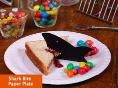 Shark Bite Paper Plate