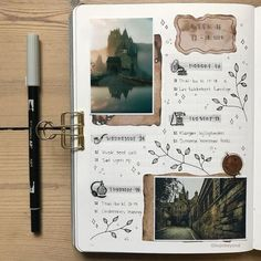 Love the water color accents scrapbook school layouts Bullet Journal Aesthetic, Bullet Journal Inspo, Bullet Journal Ideas Pages, Art Journal Pages, Photo Journal, Art Journals, Kunstjournal Inspiration, Art Journal Inspiration, Scrapbook Journal