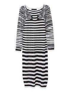 Zibra Pattern Knit Dress