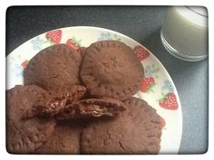 Nutella Stuffed Cookies from my blog I'd Much Rather Bake Than...