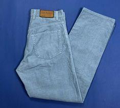9bfd955579 Tommy hilfiger W31 tg 45 midtown pantalone usato uomo velluto a coste blu  T327 #tommyhilfiger