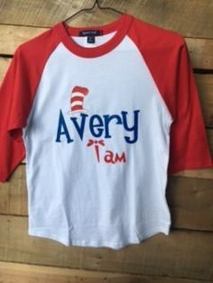 Dr. Seuss Inspired Personalized Baseball jersey TShirt by HeyYallandCo on Etsy