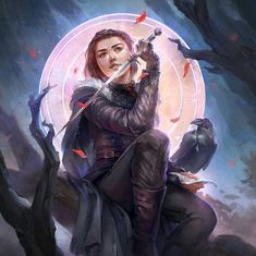 Arya Stark of Winterfell by Marisa Oh on ArtStation. Game Of Thrones Wallpaper, Game Of Thrones Artwork, Winter Is Here, Winter Is Coming, Silent Hill Art, Game Of Thrones Instagram, The North Remembers, Jaime Lannister, Fantasy Male