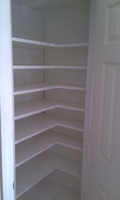 corner closet build-out