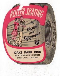 Chicago IL Vintage Roller Skating Rink Decal Sticker The Hub