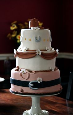 Alissa & Pat's Western Wedding Cake by The Couture Cakery, via Flickr