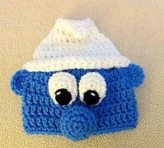 SMURF Handmade Crochet Hat Beanie