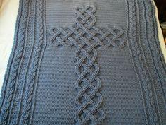 Chunky crochet cross throw