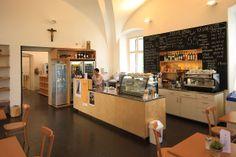 Broumov - Café Dientzenhofer Liquor Cabinet, Kitchen Island, Storage, Furniture, Home Decor, Island Kitchen, Purse Storage, Decoration Home, Room Decor