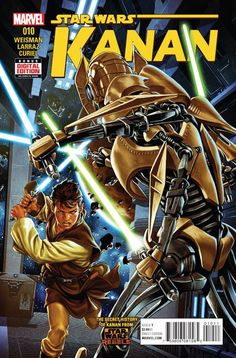 *High Grade* (W) Greg Weisman (A) Pepe Larraz (CA) Mark Brooks • Caleb Dume's first days in The Clone Wars continue... • Master Billaba brings her Padawan and their clones to the Battle of Mygeeto. •