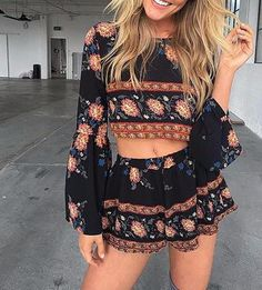 Gypsy Floral Winged Two-Piece