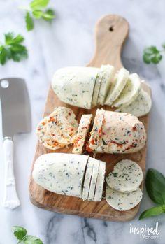 Homemade Herb Butters | inspiredbycharm.com