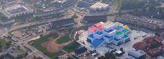 iwan baan photographs BIG's LEGO house in denmark