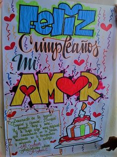 PANCARTAS DE CUMPLEAÑOS Bf Gifts, Gifts For My Boyfriend, Gifts For Husband, Cute Gifts, Birthday Cards, Birthday Gifts, Happy Birthday, Love Your Wife, Diy And Crafts