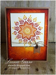 A La Cards: Frosted Fall Medallion